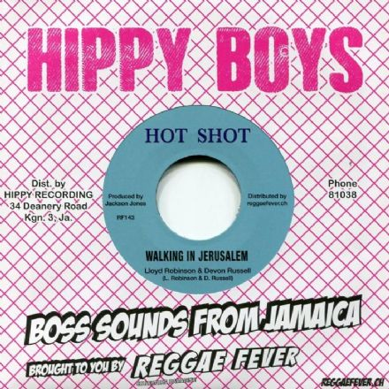 "Lloyd Robinson & Devon Russell - Walking In Jerusalem / Oswald Nethersole & The Hippy - Bimbo Reggae (Hot Shot / Reggae Fever) 7"" (2)"